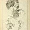 Three studies of men's heads