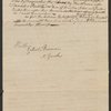 Letter from Philip Van Cortlandt to Egbert Benson