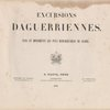 Excursions daguerriennes ... (Title page, vol. 1)