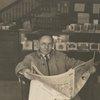 Melville Herskovits with newspaper