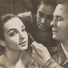 Lester Horton discusses makeup with Carmen de Lavallade, using Lelia Goldoni as a subject