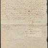 Holograph letter from Charles Brockden Brown to John Blair Linn, July 8, 1802