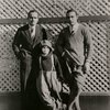 Douglas Fairbanks, Sr., Jackie Coogan, and Rudolph Valentino. (Left to right)