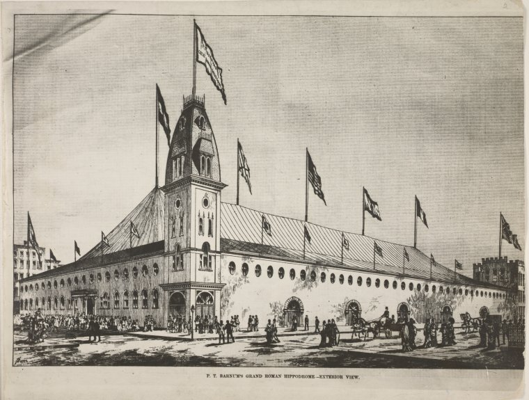 P.T. Barnum's grand Roman Hippodrome -- exterior view.