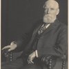 Samuel P. Avery seated in chair.