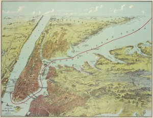 Birds eye view of New York and vicinity / C.S. Hammond & Co.