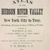 Atlas of the Hudson River Valley [Title Page]