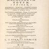 Theatrum machinarum novum, [Title page]