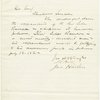 Letter signed to President Lincoln