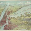 Bird's eye view map of New York and vicinity
