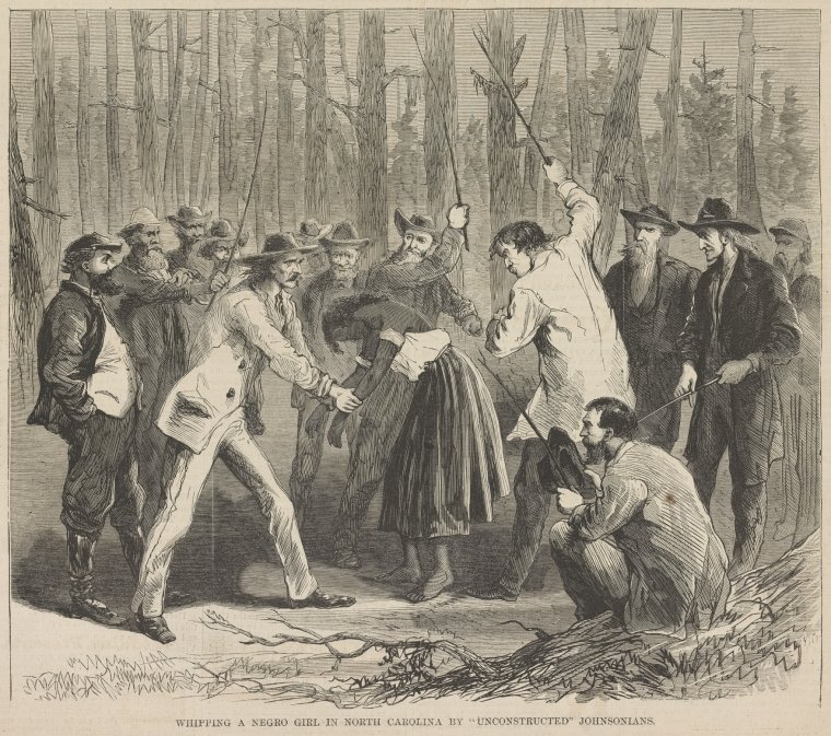 "Whipping A Negro Girl In North Carolina By ""Unconstructed"" Johnsonians."
