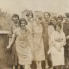 Guests at breakfast party for Langston Hughes hosted by Regina Anderson Andrews and Ethel Ray at 580 St. Nicholas Avenue, Harlem, May 1925. Left to right: Helen Lanning, Esther Popel, Pearl Fisher, Luella Tucker, Clarissa Scott Delany, Jessie Fauset, Regina Anderson (Andrews), Mrs. Charles Johnson and Ethel Nance