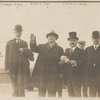 Taft, Williams, and three others on Ellis Island, Oct. 18, 1910.