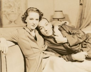 Gertrude Lawrence and Noel Coward in Shadow Play.