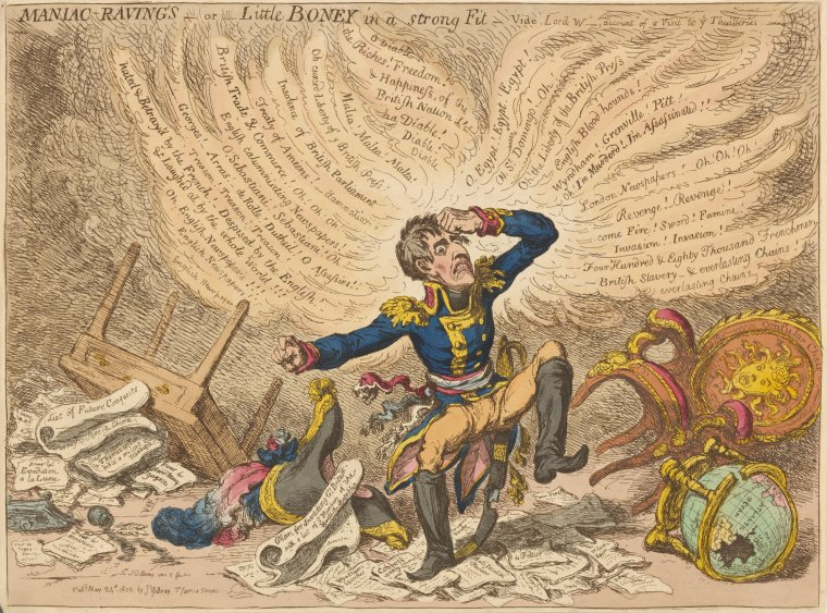 Fascinating Historical Picture of James Gillray on 5/24/1803