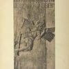 Enseigne en bois scuplté et peint d'un aubergiste, figurant l'appareil de Besnier «l'homme volant» de Sablé (1678).
