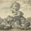 Projet d'un monument à la gloire des premiers navigateurs aériens, à élever sur le bassin des Tuileries. Gravure anonyme.