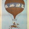 Affiche de la première Ascension équestre de Poitevin au Champ de Mars, le 7 juillet 1850.