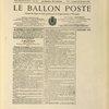 Numéro du journal Le Ballon-Poste imprimé sur papier pelure.