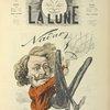 Portrait satirique de Nadar, par André Gill, paru dans le n° de la Lune du 2 juin 1867.