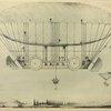 Le ballon dirigeable «l'Aigle», construit en 1834 par le comte de Lennox.