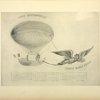 Projet de ballon remorqué par un gypaète apprivoisé, publié par Mme Tessiore, née Vitalis, en 1845.