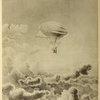 L'aérostat électrique des frères Tissandier. Expérience du 26 septembre 1884. Dessin d'Albert Tissandier.