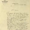 Lettre autographe de Charles Renard à Gaston Tissandier (1886).