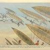 Chasse à courre en dirigeable. Caricature d'Albert Guillaume, inspirée par les expériences de Santos-Dumont (1901), parue dans l'Assiette au Beurre.