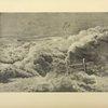 Combat entre un avion allemand Fokker et un avion français Voisin. Aquarelle exécutée en 1916 par M. Bourguignon.