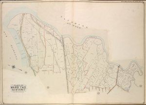 Queens, Vol. 2, Double Page Plate No. 49; Part of Ward Two Newtown; [Map bounded by Flushing Bay, Flushing Creek, Mill Creek, Corona Hempstead Plank Road, Longview St., Fairview St., Home St., Orchard St.; Including Smith St., Plateau St., Myrtle Ave., Long Island R.R., Evergeen Ave., Flushing and Newtown Turnpike, Jackson Causeway]