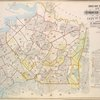 Index Map to Vol. 2, Atlas of the Borough of Queens, 1st and 2nd Wards City of New York Published by E. Belgher Hyde. 5 Beekman St. Temple Court Manhattan, 97 Liberty St. Brooklyn Borough. 1908