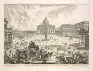 Engraving of Saint Peter's, Rome
