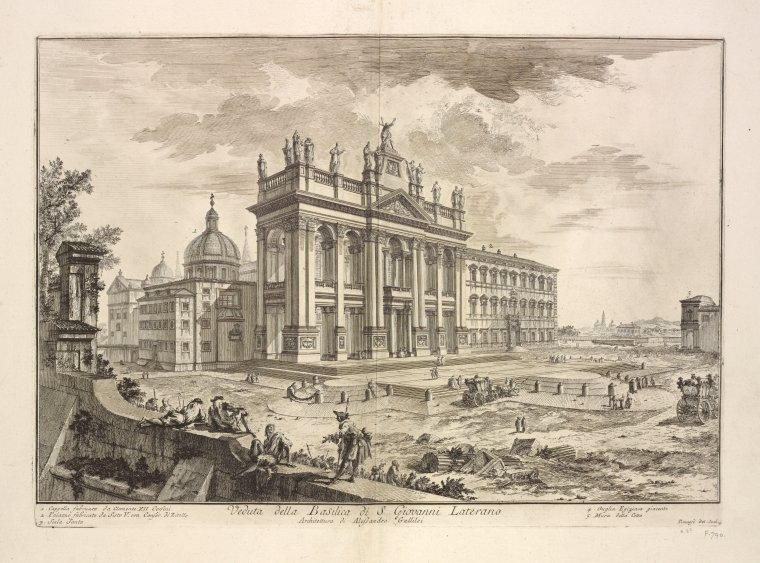 This is What Basilica di S. Giovanni in Laterano Looked Like  in 1748
