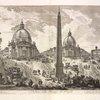 Veduta della Piazza del Popolo.