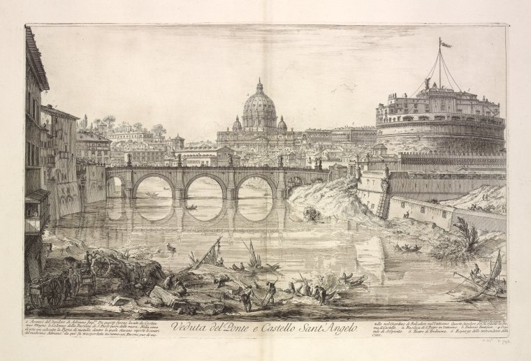 Fascinating Historical Picture of Museo nazionale di Castel Sant�Angelo in 1748