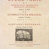 Opera Varie [1750]. [Title page vignette]