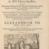 Athanasii Kircheri e Soc. Jesu Mundus subterraneus, ... (Title vignette, with motto: Sapiens dominabitur astris.)