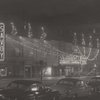View of the Savoy Ballroom at night, on Lenox Avenue between 140th and 141st Streets, in Harlem, New York, circa 1950