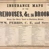 Insurance maps of the Warehouses, &C. in Brooklyn from the Navy Yard to Partition Street, By WM. Perris, C.E. and Surveyor. Perris & Browne, Publishers of Insurance Maps, No. 13, Chambers Street, New York. Entered according to act of Congress, in the year 1860, by William Perris, in the Clerk's office of the Districk court of the United States for the Southern Districk of New York. Corrected to October 1861, by Harry, H. Browne. General Insurance Surveyor, 14 Wall Street, New York. [Title Page]