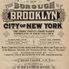 Atlas of the borough of Brooklyn, city of New York. The first Twenty Eight Wards complete in Four Volumes. Three additional volumes for the Four new wards will complete the entire borough. Volume One Embraces Sections 1, 2, 3 & 4. Volume Two, Embraces Sections 5,6&7. Volume Four Embraces Sections 12, 13 & 14. Newly constructed and based upon official maps and plans on file in the municipal building and registers office (Hall of Records) supplemented by careful field measurements and observations. By and under the direction of Hugo Ullitz, C.E. Published by E. Belcher Hyde. 97 Liberty Street, Brooklyn, 1903. Volume One. [Title Page]