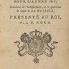 Almanach royal d'Hayti; pour l'année 1815,  ... [Title page]