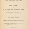 A description of the province and city of New York; ... [Title page]