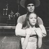 Randy Ruiz and Diane Lane in the stage production Runaways