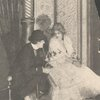 "Clyde Fitch (author and stage director) giving points to Julia Marlowe (actress and star) prior to the production of ""Barbara Frietchie"""