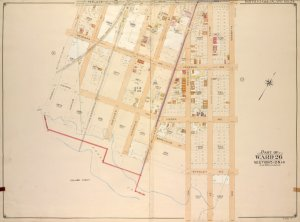 Brooklyn, Vol. 4, Double Page Plate No. 24; Part of Ward 26; Sections 12 & 14; [Map bounded by Newlots Ave., Alabama Ave., Stanley Ave.; Inclluding Fresh Creek, E. 107th St., Powell St.]