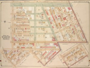 Brooklyn, Vol. 5, Double Page Plate No. 27; Part of Ward 29, Section 16; [Map bounded by Ocean Parkway, Foster Ave., Gravesend Ave.; Including 45th St., 17th Ave., 42nd St., 16th Ave., Ditmas Ave.]; Sub Plan; [Map bounded by 42nd St., 17th Ave., 44th St., 16th St., 43rd St.]