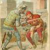 Knight pulls the ear of Eulenspiegel]