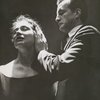Colleen Dewhurst and George C. Scott performing a staged reading of Antony and Cleopatra