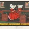 Sunbonnet twins at church.]